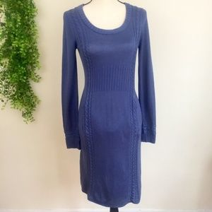 ATHLETA Bamboo & Cashmere Blend Cable Knit Dress